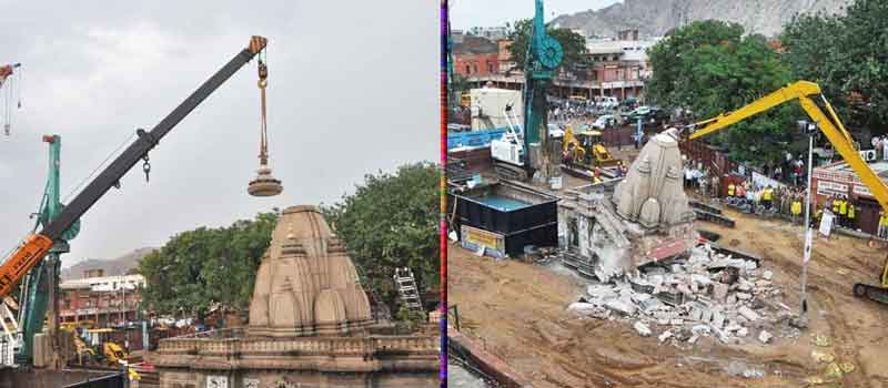 Seven Temples on Jaipur Metro Route to be Shifted Soon